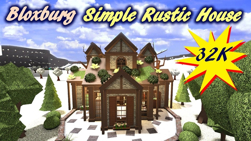 Roblox Bloxburg Simple Rustic House Speed build Tour - January 9, 2021, | Minami Oroi