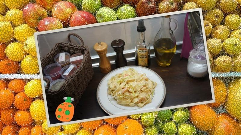 Рецепт №33. Паста с креветками в сливочном соусе