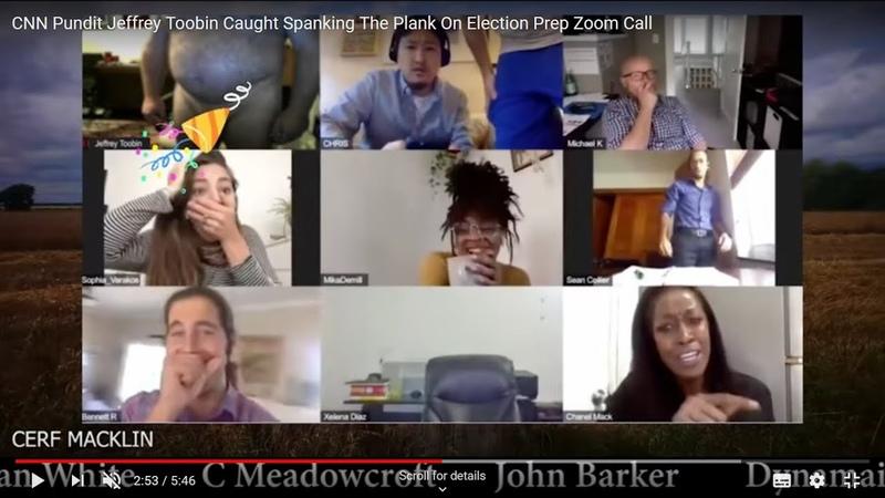 Biden supporter, Jeffrey Tooney, Caught masterbating! Live on Zoom.Funniest video EVER