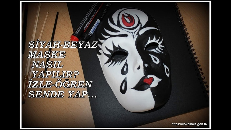 Black Whıte Mask Painting Siyah Beyaz Maske Nasıl Yapılır