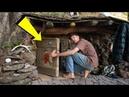 Мужчина ушел жить в лес и построил с виду обычную землянку но то что внутри просто поражает!