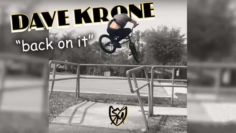 S M BMX Dave Krone back on it