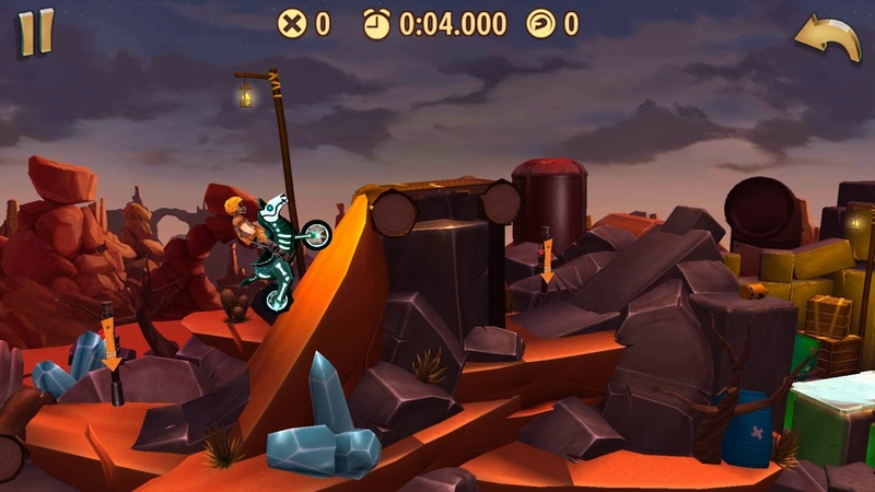 Trials Frontier WRs - Torn Canyon Crazy (13.665) by AurisTFG (Android)