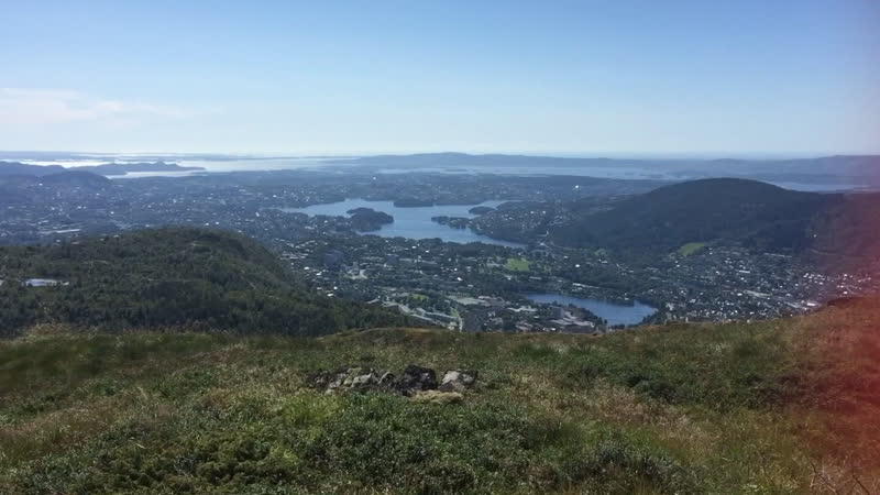 На горе Ульрикен Берген Норвегия 🇳🇴