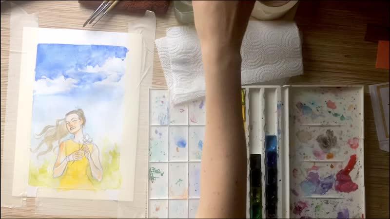 Summer watercolor 🌼