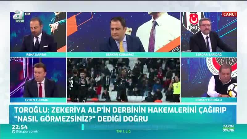 Erman Toroğlu Cüneyt Çakır Ve Fırat Aydınus MHK ye Oynuyor A Spor Takım Oyunu