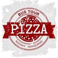 Логотип PizzaBustour / Автобусные туры / Нижний Новгород