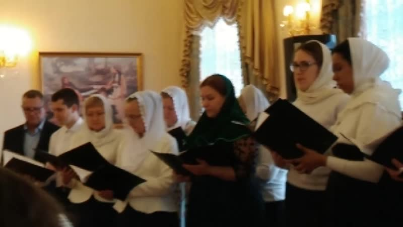 Выступление народного хора Лебёдушка на Рождественском утреннике в Казанско-Богородицком мужском монастыре (2021)