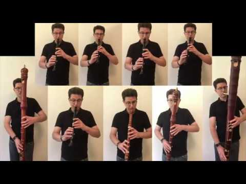 Bach Brandenburg 2 but it's played only on Recorders