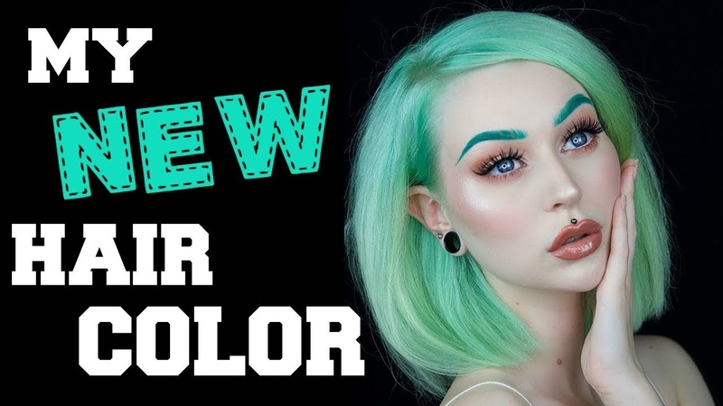 Dyeing My Hair Mint Green ☆ | Evelina Forsell