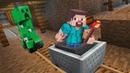 Майнкрафт выживание Нуба в Пещере! Крипер и другие Майнкрафт мобы! Видео игры. Летсплей minecraft