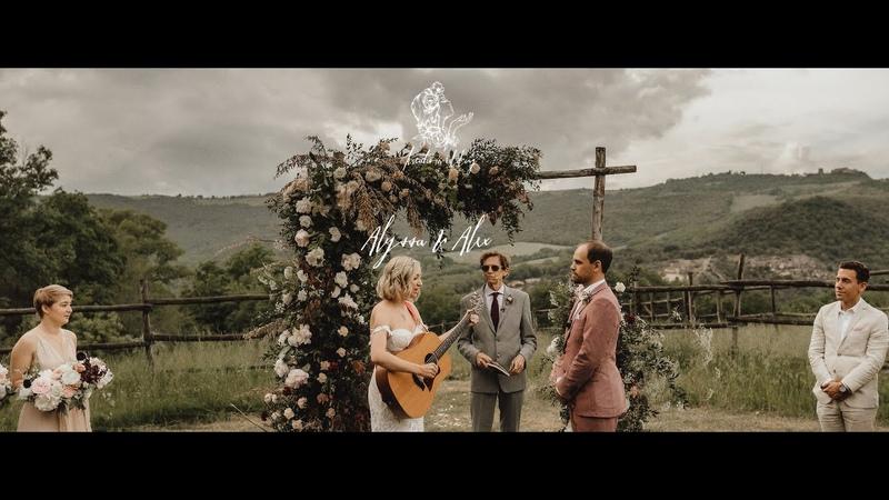 Alyssa Alex emotional wedding in Tuscany