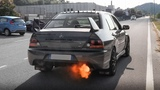 Mitsubishi Lancer Evolution VIII MR FQ-340 w Turbo Anti-Lag Accelerations, Launch &amp OnBoard!