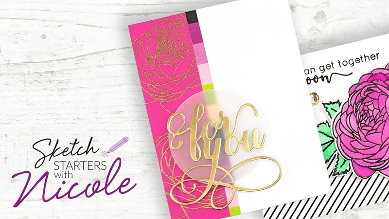 2 Flirty Florals For You Sketch Starters with Nicole 005