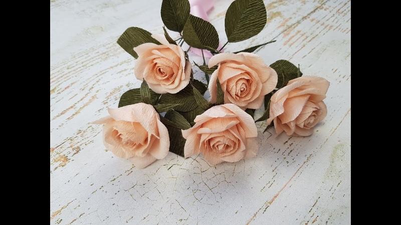Реалистичные розы из гофрированной бумаги DIY Mellas
