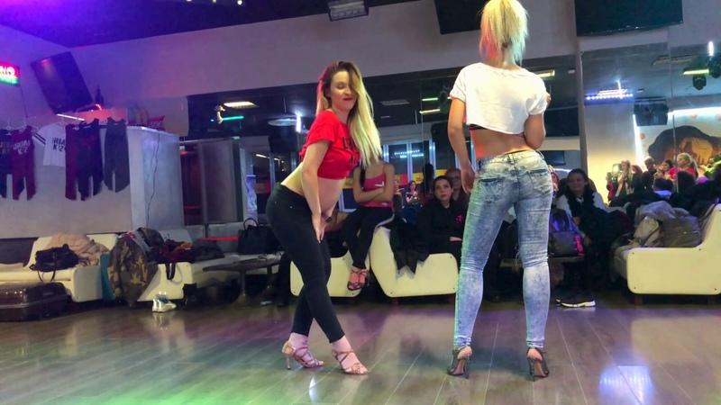 Sara López baila Lady Style con Carolina EMBARAZADA