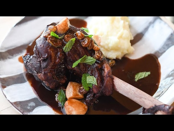 Napa Valley Red Wine and Port Lamb Shanks